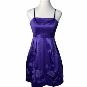 Lucy Paris purple fit and flare dress new Small